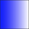 An horizontal gradient, blue at the far left, white at the far right.