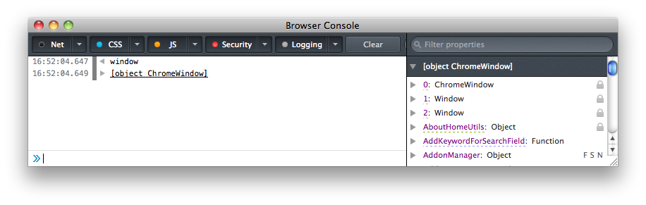 Browser Console - Firefox Developer Tools | MDN
