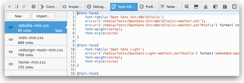 Style Editor - Firefox Developer Tools | MDN