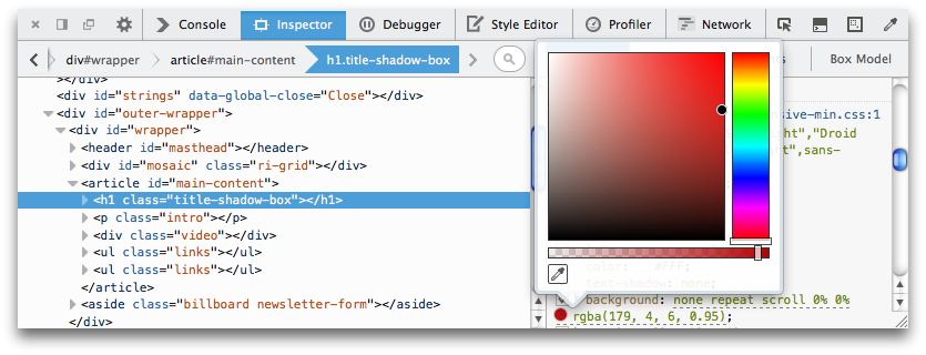 If You Click On The Color Sample, Youu0027ll See A Color Picker Popup, Enabling  You To Change The Color: