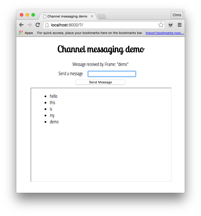 Using channel messaging - Web APIs | MDN