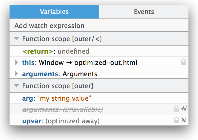 Examine, modify, and watch variables - Firefox Developer