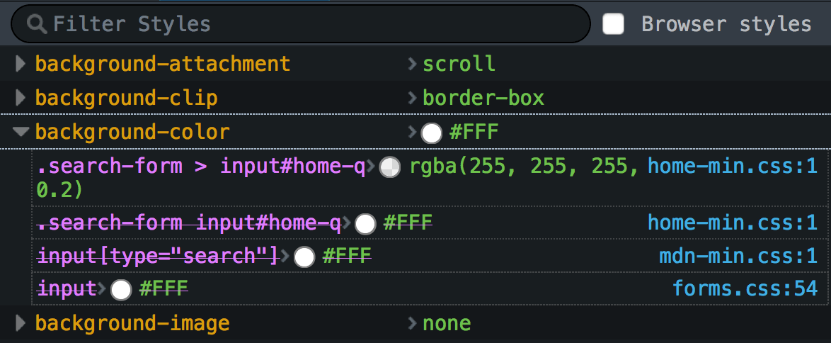 Examine and edit CSS - Firefox Developer Tools | MDN