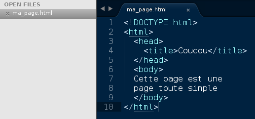Screenshot of a file explorer with a html file for local test