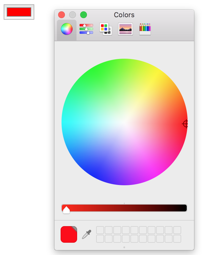 This is how an input type color looks on Mac and within Chrome