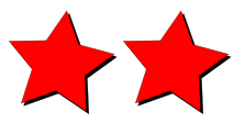Two star images, one raster and one vector. At their default size they look identical