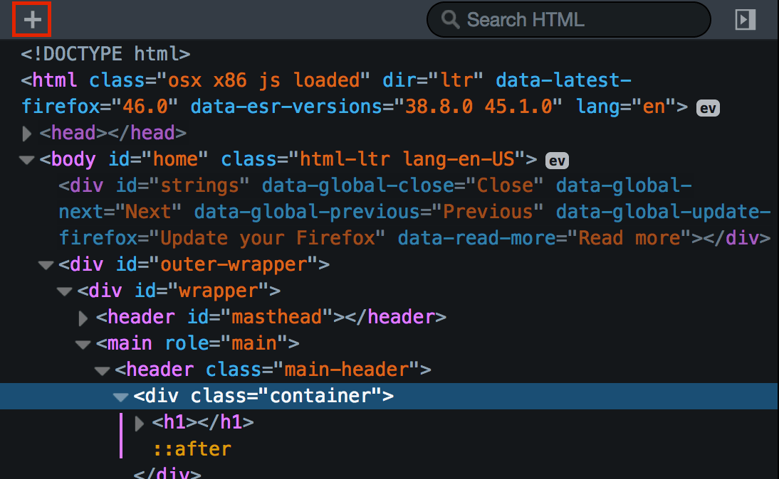 Examine And Edit Html Firefox Developer Tools Mdn