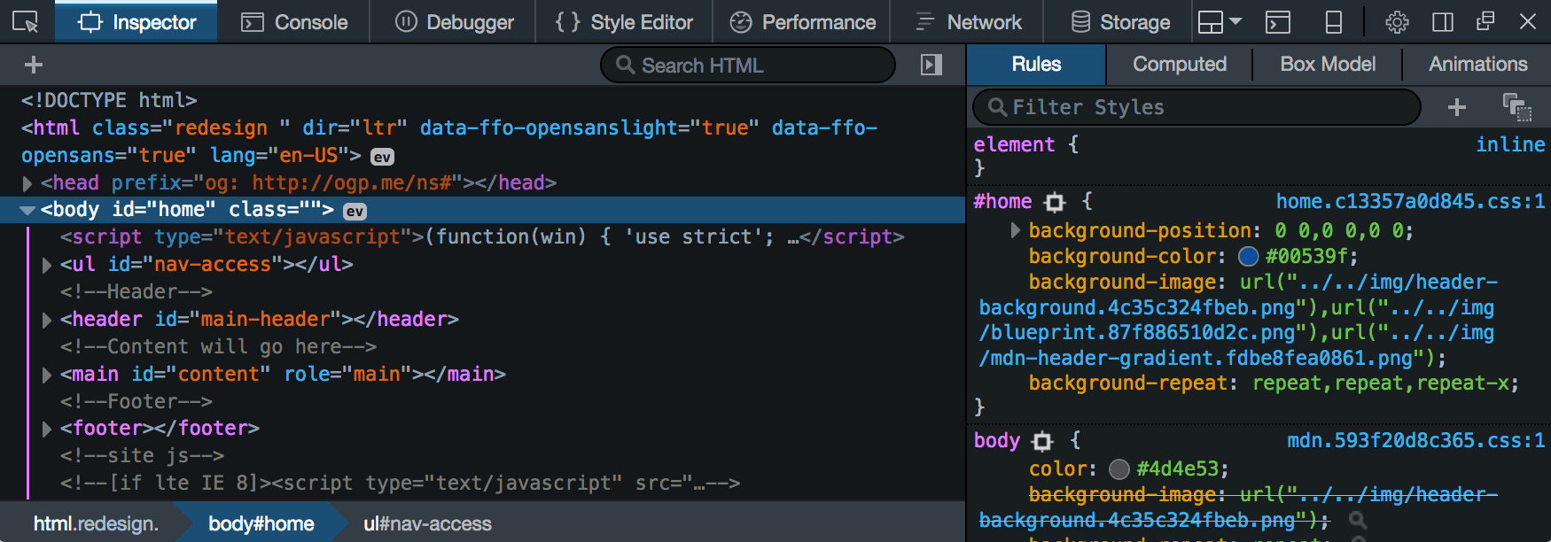 Dark theme for DevTools