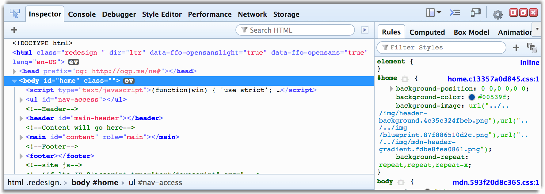 Firebug theme for DevTools