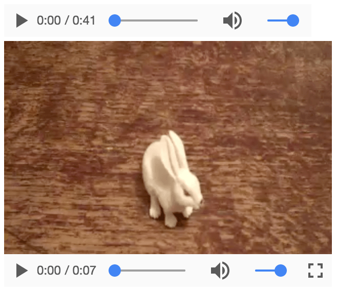 Screenshot of Video Controls in Chrome