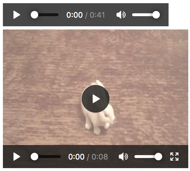 Screenshot of Video Controls in Firefox