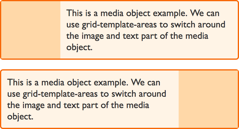 Images showing an example media object design