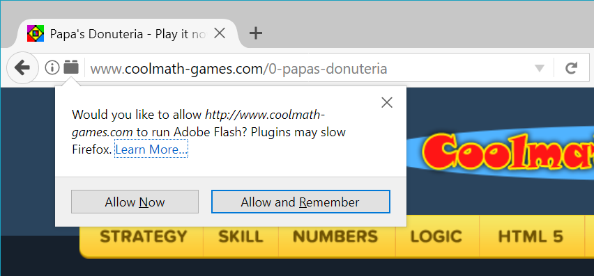 No flash in firefox