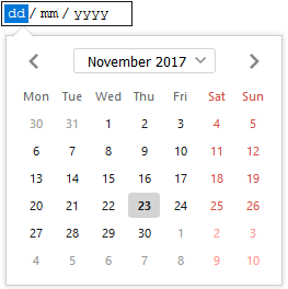 Datepicker UI in firefox