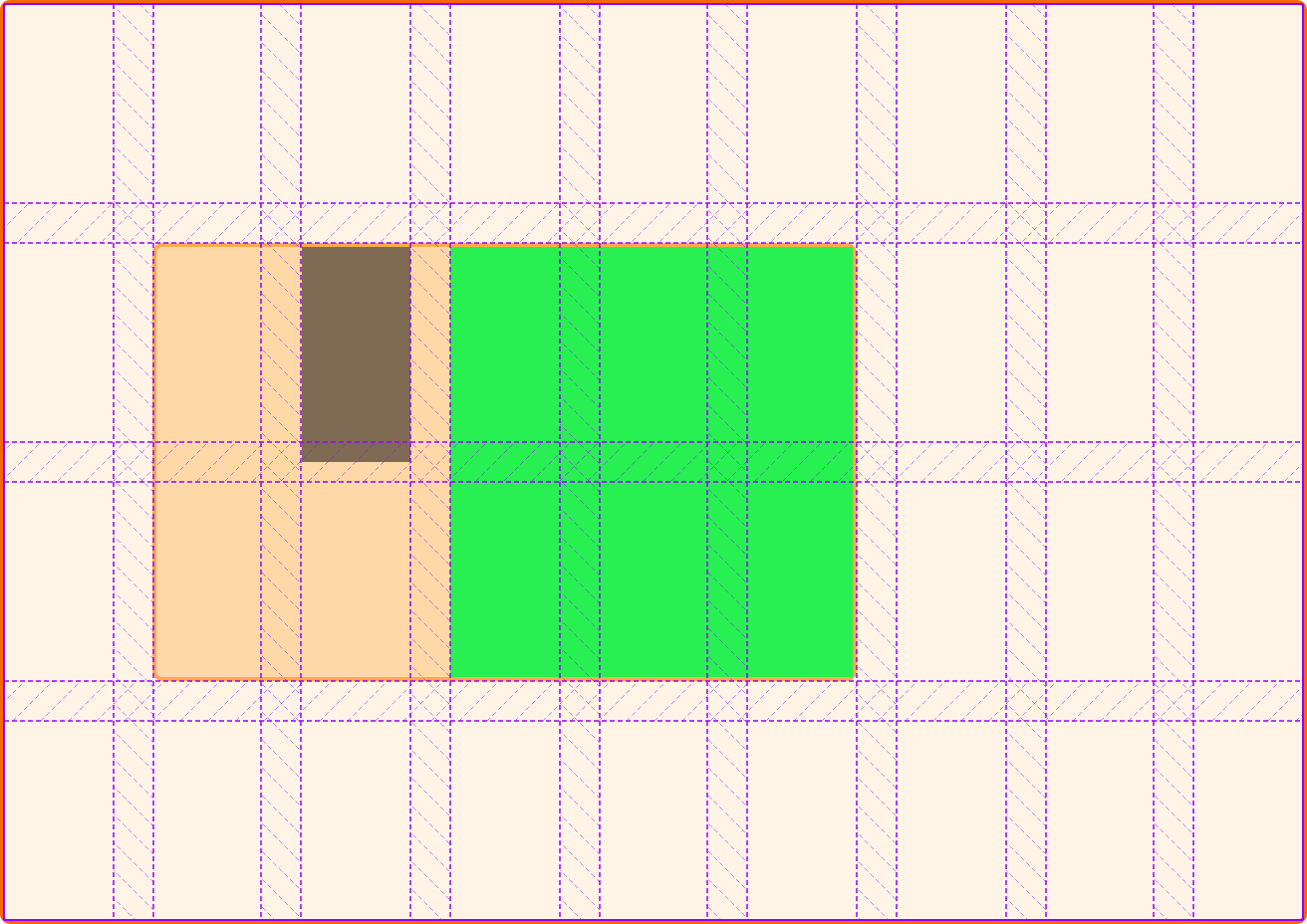 The smaller item displays in the gap as row-gap is set to 0 on the subgrid.