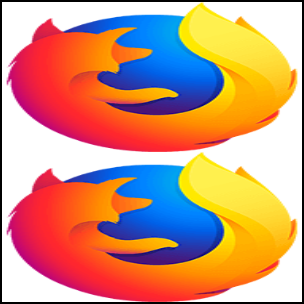 New Firefox logo stretched